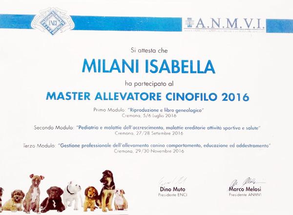 Master Allevatore Cinofilo 2016