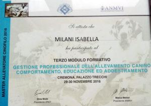 Terzo modulo formativo Master Allevatore Cinofilo 2016